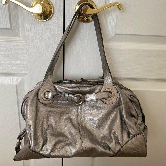 Francesco Biasia Metallic Leather Bag